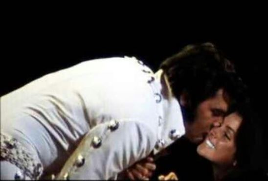 Elvis Kissing Priscilla at Concert