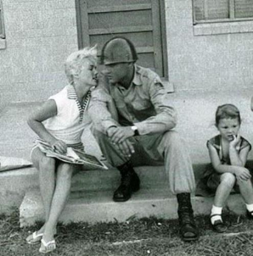 Elvis and Anita Wood at Fort Hood, Texas 1958