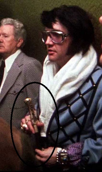 Elvis with Cane