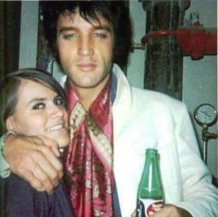 Elvis with Girl and Mountain Valley Spring Water