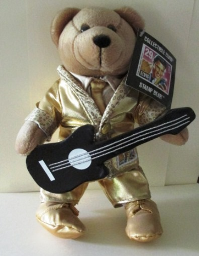 Elvis Bear in Gold Lame Suit