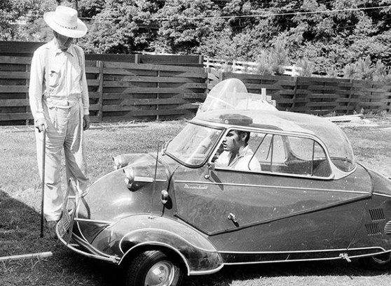 Elvis in 1956 Messerschmitt KR200