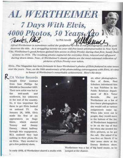 Elvis the Magazine 29th Anniversary Issue - My Article