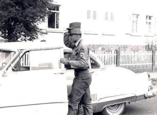 Elvis wearing Double Army Hats