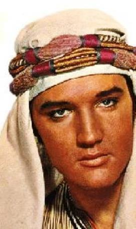 Elvis Wearing Turban in Harem Scarum