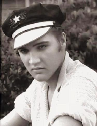 Elvis in Motorcycle Hat