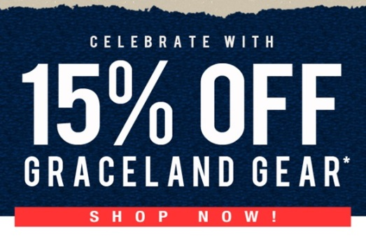 15% Off Graceland Gear