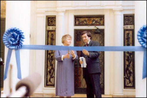 Aunt Delta and Jack Soden at opening of Graceland, June 7, 1982
