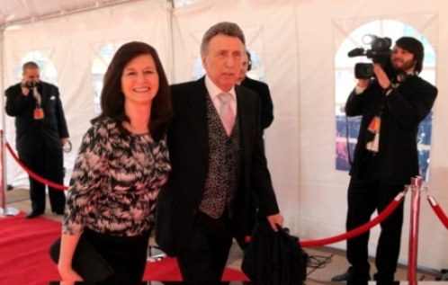 DJ-Fontana-and-Karen-Arrive-on-the-Red-Carpet-at-Rock-and-Roll-Hall-of-Fame-Inductions