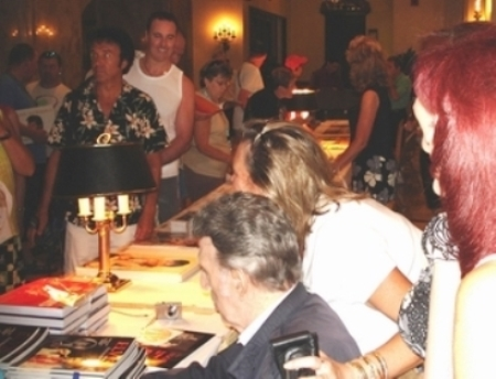 DJ Signing Books at Elvis Week 2007