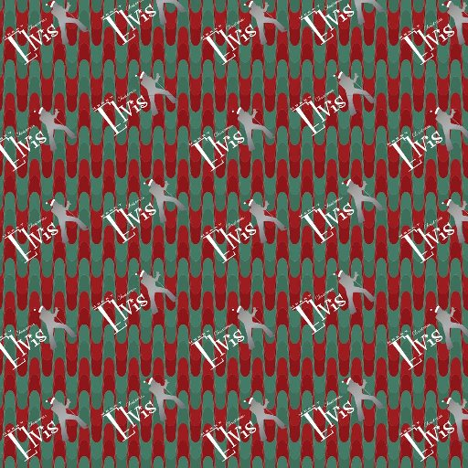 ELVIS GROOVY WAVE WRAPPING PAPER