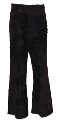 Elvis' Black Faux Fur Pants