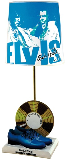 Elvis Blue Suede Shoes Lamp