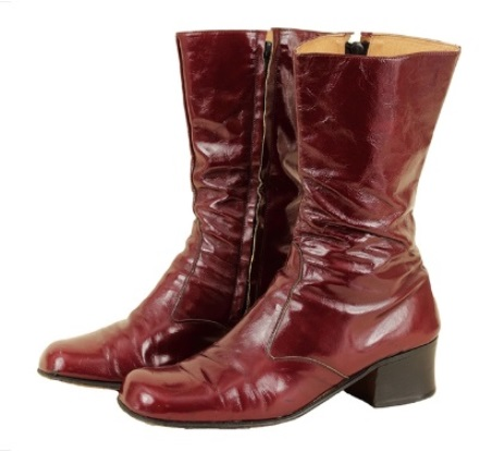 Elvis' Burgundy Patent Leather Boots