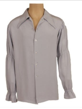 Elvis' Pale Blue Balloon-Sleeved Shirt