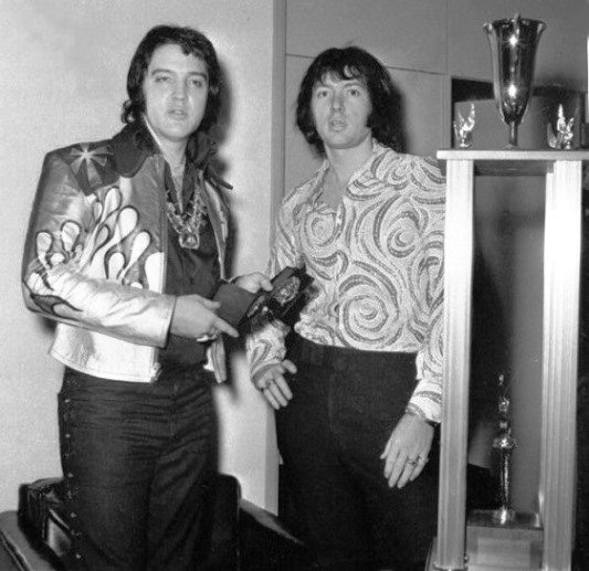 Elvis Presley and Eric Clapton
