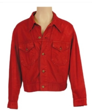 Elvis' Red Wine Denim Jacket from Stay Away Joe
