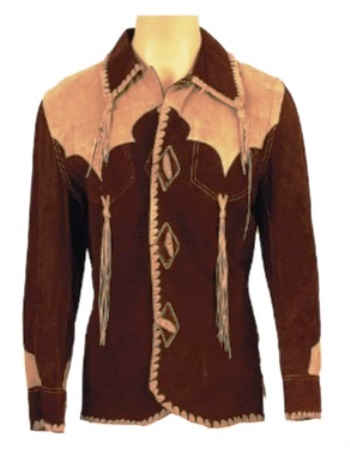 Elvis' Suzy Cream Cheese Two-Tone Brown Suede Fringed Jacket