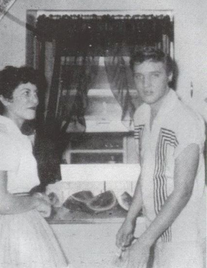 Elvis at June 5 1955 Watermelon Party, Hope Arkansas