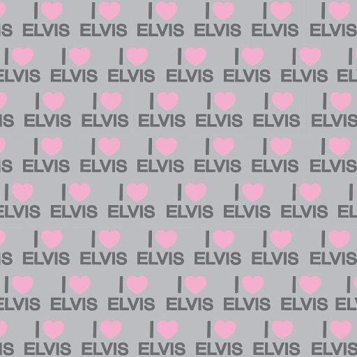 I LOVE ELVIS WRAPPING PAPER