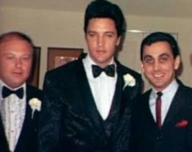 Marty Lacker, Elvis, George Kline at Elvis' Wedding