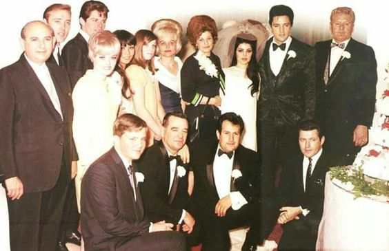 Only photo that supposedly shows the entire wedding party at the Presley Wedding in Las Vegas, May 1, 1967