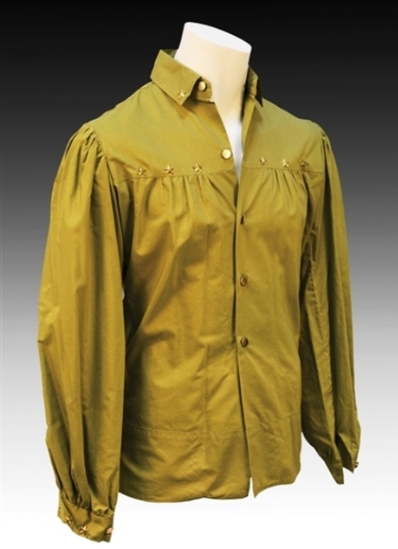 Signed Shirt from Elvis' Personal Wardrobe Provided as the Grand Prize in a 1973 Boy Scout Raffle