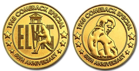 68 SPECIAL 50TH ANNIVERSARY LIMITED EDITION Elvis COIN