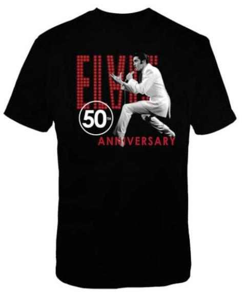 Elvis' 68 SPECIAL 50TH ANNIVERSARY ELVIS WHITE SUIT T-SHIRT