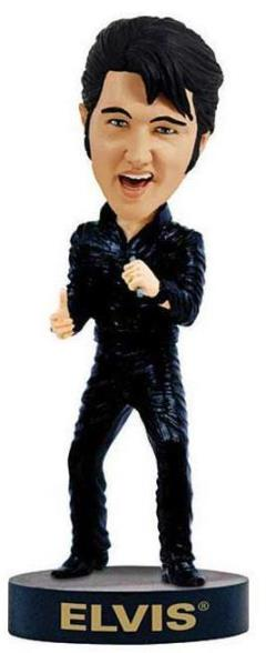 Elvis 68 Special Comeback Bobble head 29.99 8 inches tall