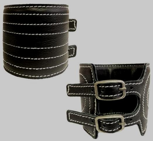 Elvis BLACK LEATHER BRACELET
