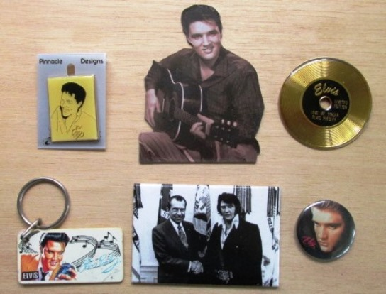 Elvis Pins, Magnets, and Key Chain