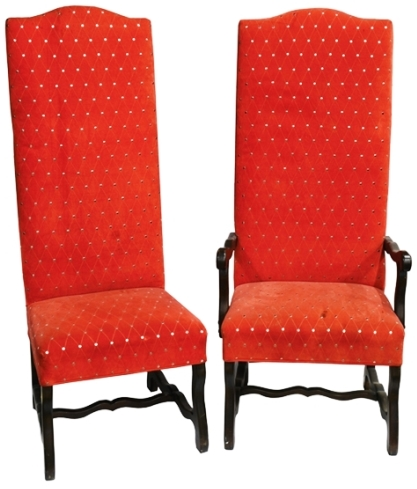 Elvis Presley - Dining Room Chairs from Graceland