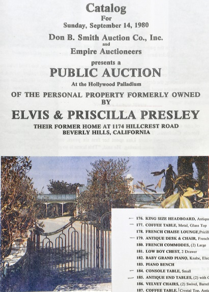 Elvis Presley Hillcrest Home - Auction Catelog