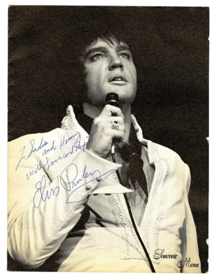Elvis Presley - Signed 1970 International Hotel Summer Festival Souvenir Concert Menu