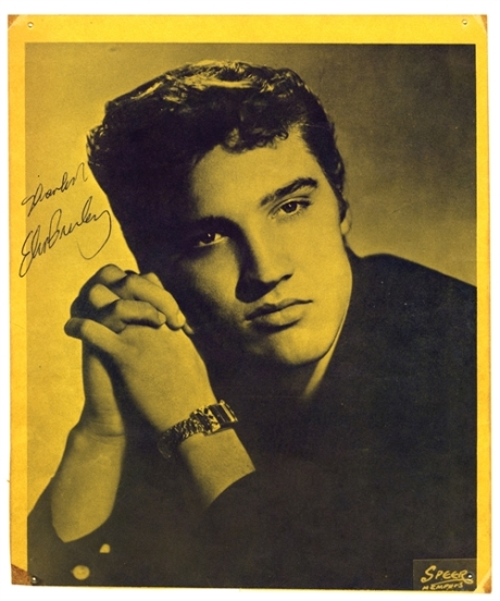 Elvis Presley - Signed Back Cover from Mr. Rhthym Magazine