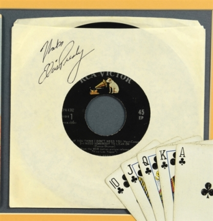 Elvis Presley Signed Record Sleeve