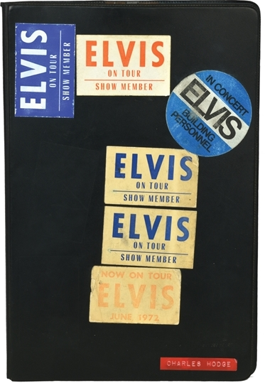 Elvis Presley - Stage-Used Black Binder That Held Song Lyric Sheets