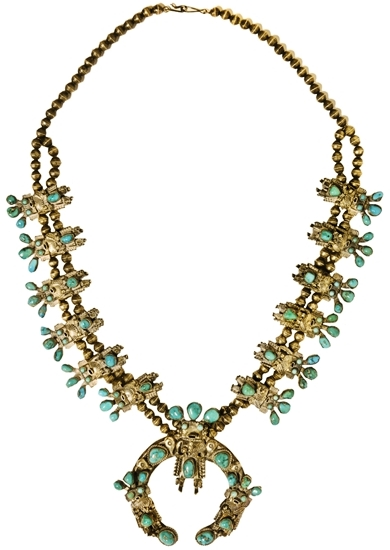 Elvis Presley - Turquoise and Silver Statement Necklace Gifted to J.D. Sumner