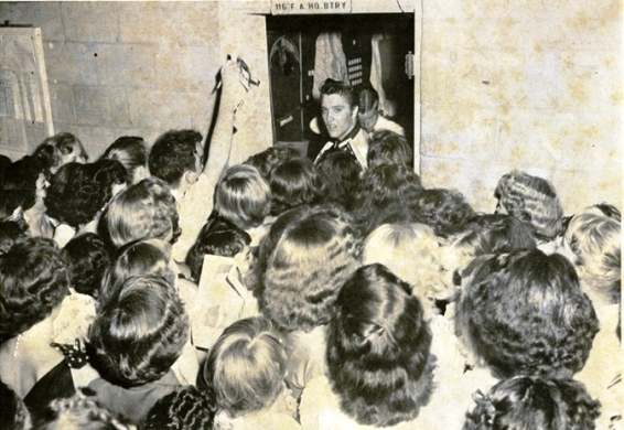 Elvis Presley and Fans - From Mr. Rhthym Magazine
