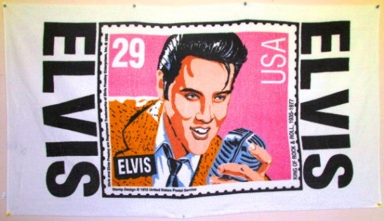 Elvis Stamp Beach Towel