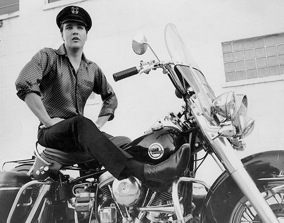 Elvis on Harley