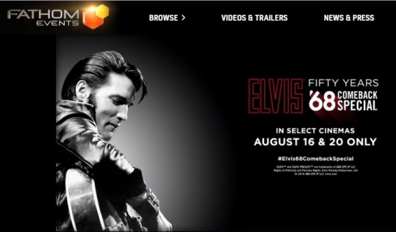 Fathom Events Elvis 68 Comeback at Movies