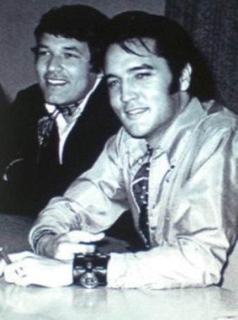 Steve Binder and Elvis in 1968