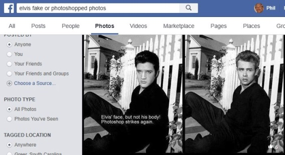 Elvis Fake or Photoshopped Photos
