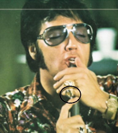 Elvis Presley - Close-up of Black Sapphire Ring