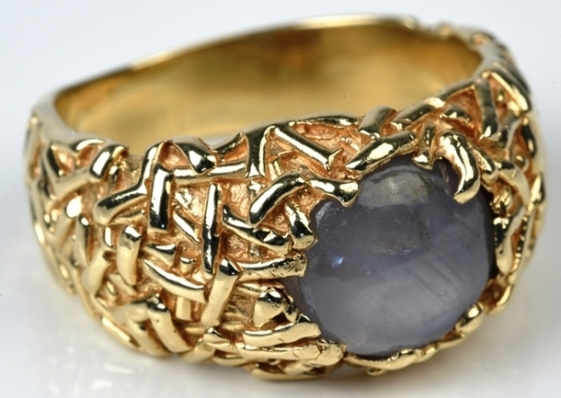 Elvis Presley - Gold and Gray Star Sapphire Ring