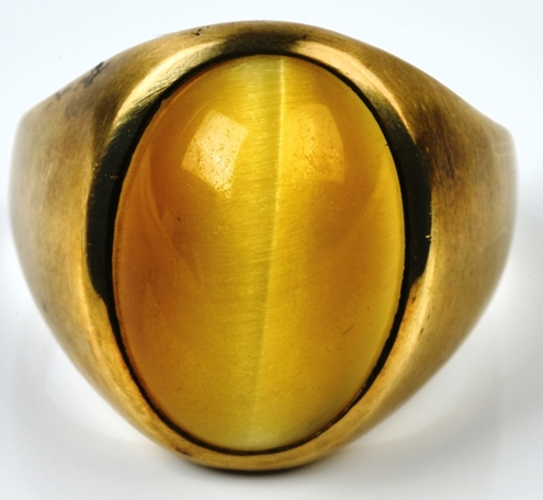 Elvis Presley - Gold and Tiger's Eye Ring