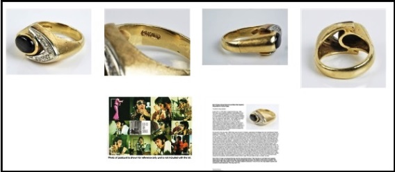 Elvis Presley's Black Sapphire Ring Pictures