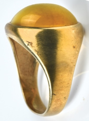 Elvis Presley's Tiger's Eye Ring - Upright